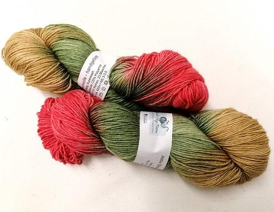 Handgefärbte 6-fädige Sockenwolle