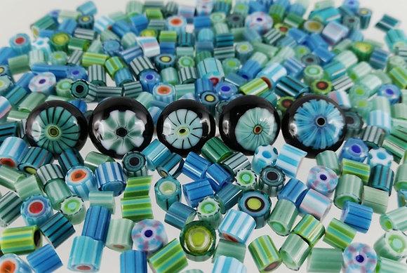 Sabine Frank - Murrinimischung blau-grün