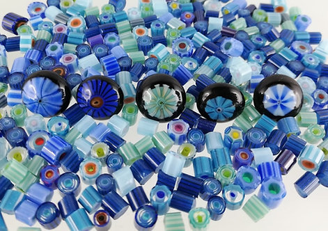 Sabine Frank - Murrinimischung blau