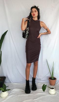 Vestido de Veludo Molhado