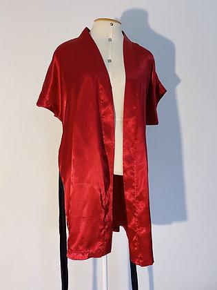 Robe cetim vermelho