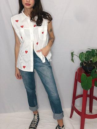 Camisa Corações - Tam 48