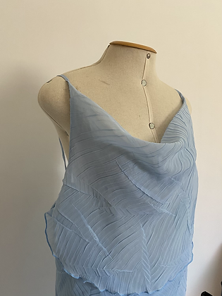 Vestido Midi Azul Céu