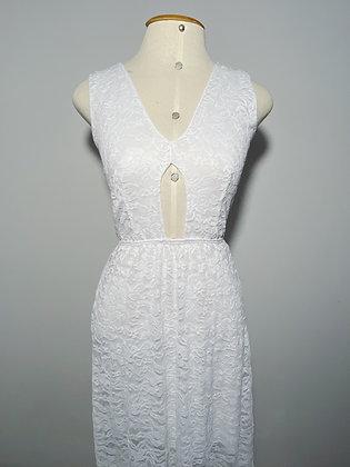 Vestido Longo Renda Branca