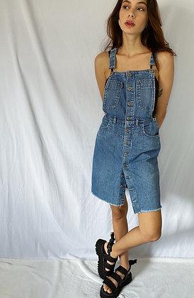 Salopete Jeans com Botões