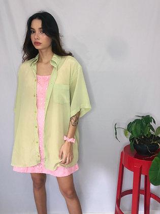 Camisa de Botão Verde - Tam XGG