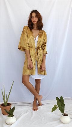 Robe Amarelo Mostarda Poá