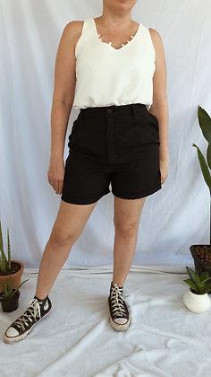 Blusa Basic Off White Decote V