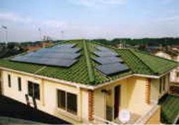 太陽光発電/実績/3.36KW/寄棟屋根(和瓦)