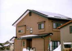 太陽光発電/実績/4.16KW/切妻屋根(金属板瓦棒屋根)