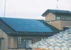 太陽光発電/実績/3.12KW/2F切妻屋根(金属板瓦棒屋根)