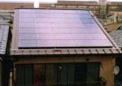 太陽光発電/実績/4.76KW/切妻屋根(金属板瓦棒屋根)