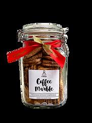 coffee marble cookies