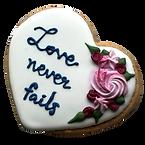 icing cookie wedding heart
