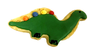 dinosaur icing cookie