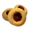 thumprint strawberry cookie
