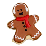gingerbread man christmas custom cookie