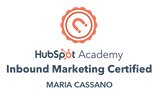 Hubspot Academy Inbound Marketing Certification