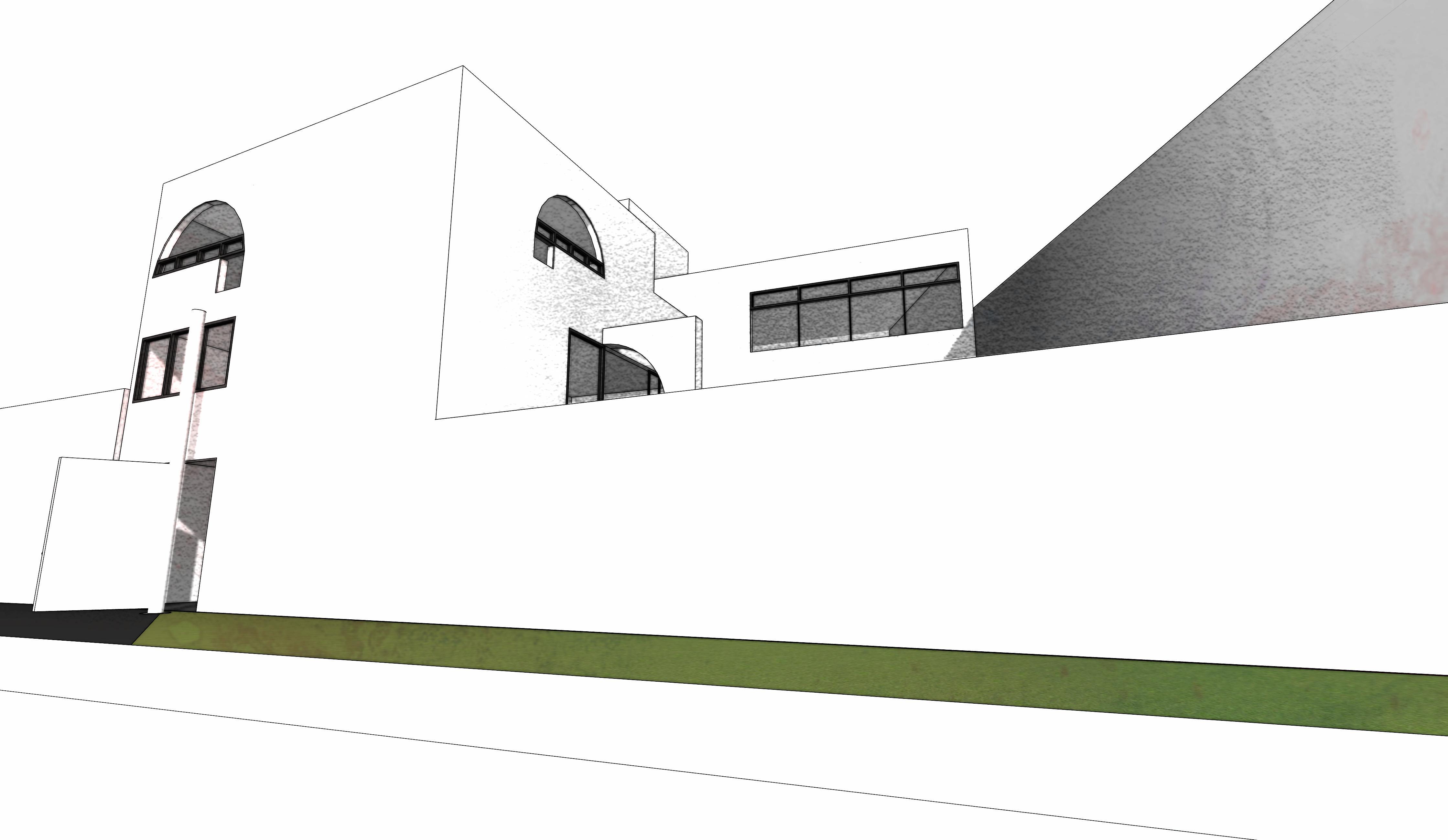 Perspectiva fachada acceso