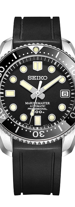 CURVED END RUBBER STRAP CB03 FOR Seiko MARINEMASTER