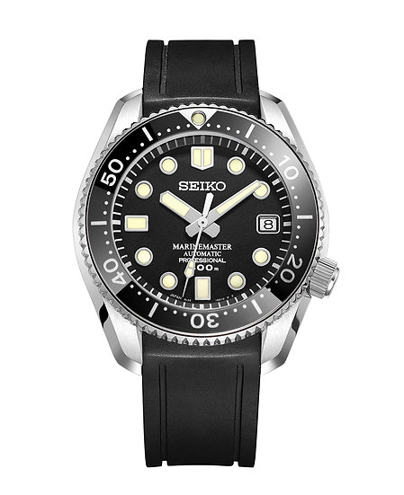CURVED END RUBBER STRAP FOR Seiko MARINEMASTER (CB03)