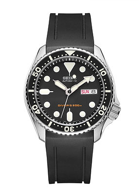 CURVED END RUBBER STRAP CB05 FOR SEIKO SKX SERIES