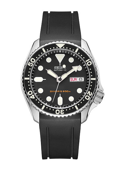 CURVED END RUBBER STRAP FOR SEIKO SKX SERIES (CB05)