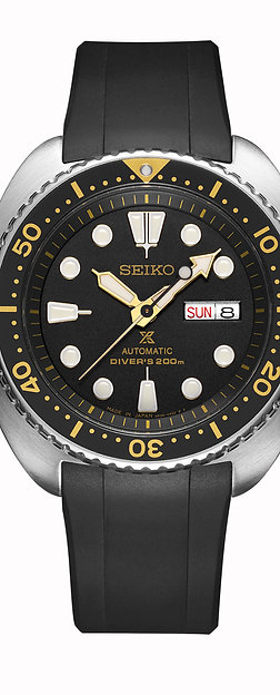 CURVED END RUBBER STRAP CB08 FOR SEIKO NEW TURTLE SERIES