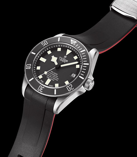 Curved End Rubber Strap for Tudor Pelagos Series (TD02) (Dual-color)