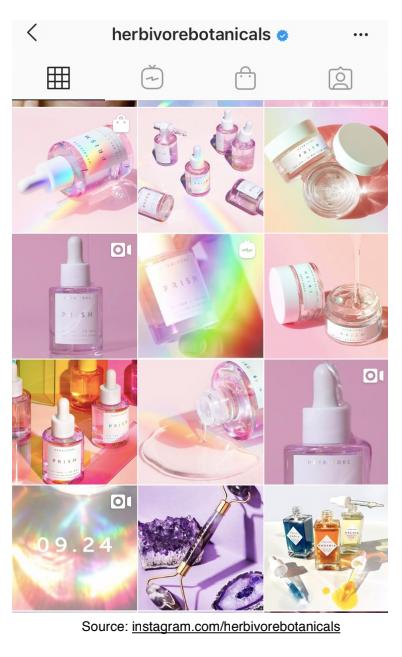 Herbivore's Instagram Page