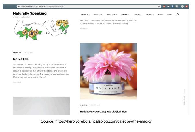 Herbivore's Blog Website Homepage