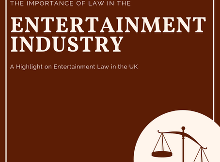 The Importance of Law in the Entertainment Industry
