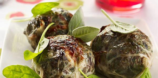 Caillettes poulet-épinard | Provence | 3 pièces