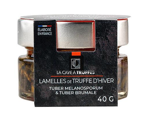 Lamelles de truffe d'hiver, dans huile d'olive truffée | 40g