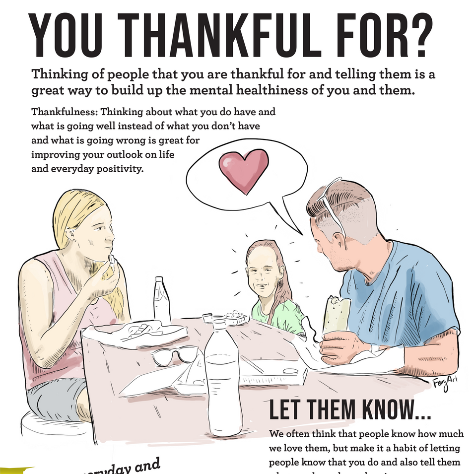Thankfulness Advert Who are you thankful for