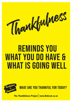 Thankfulness what you do have - reminds_