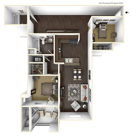 Picture to represent two bedroom floor plan page click to see more plans