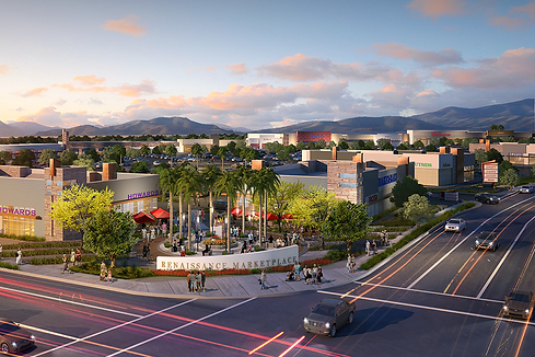 Rendering image of the Renaissance shopping center