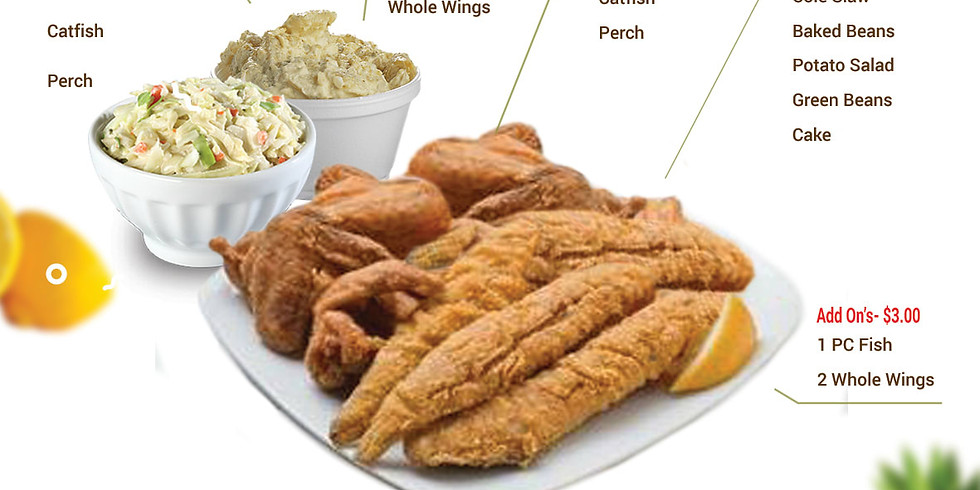 FISH FRY W/Chicken Wings (Whole) - Fundraiser