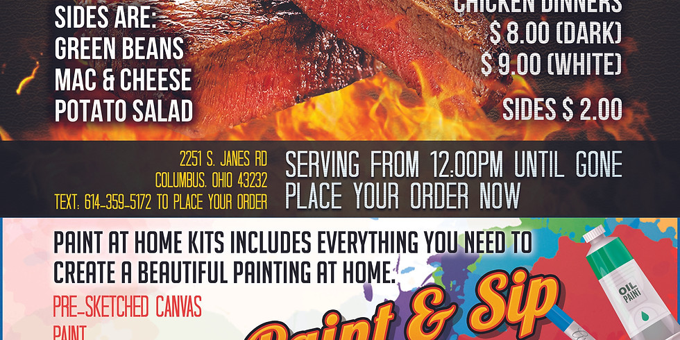 BBQ & Paint & Sip To Go Event