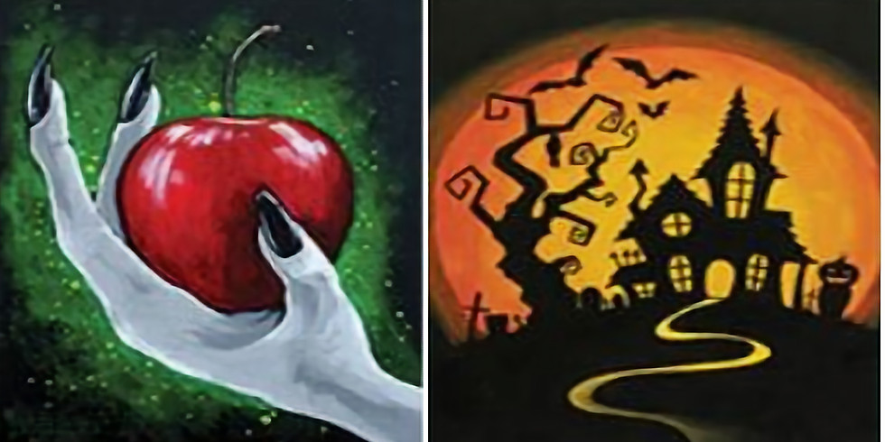 Choose Your Painting - Poison Apple or Haunted House