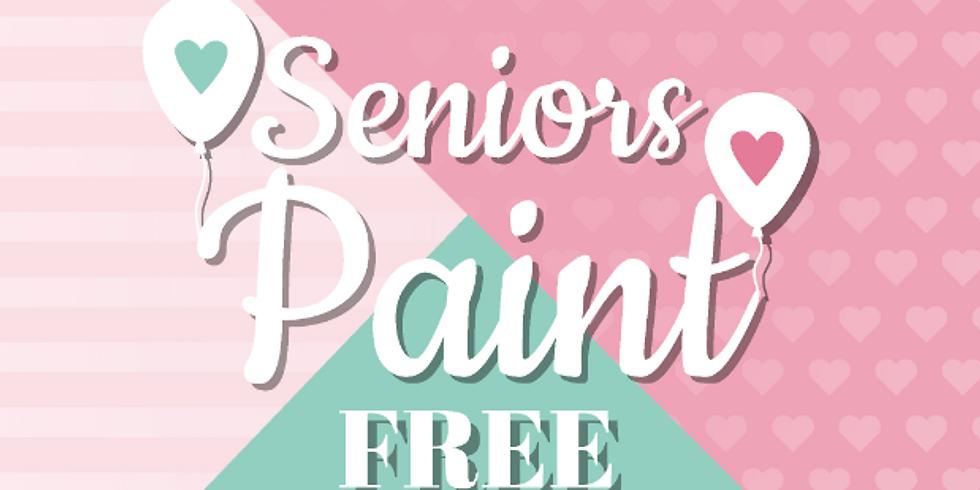 Senior Paint Free Event