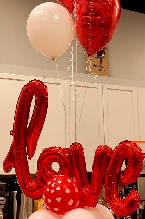 Organic Love Balloon Bouquet
