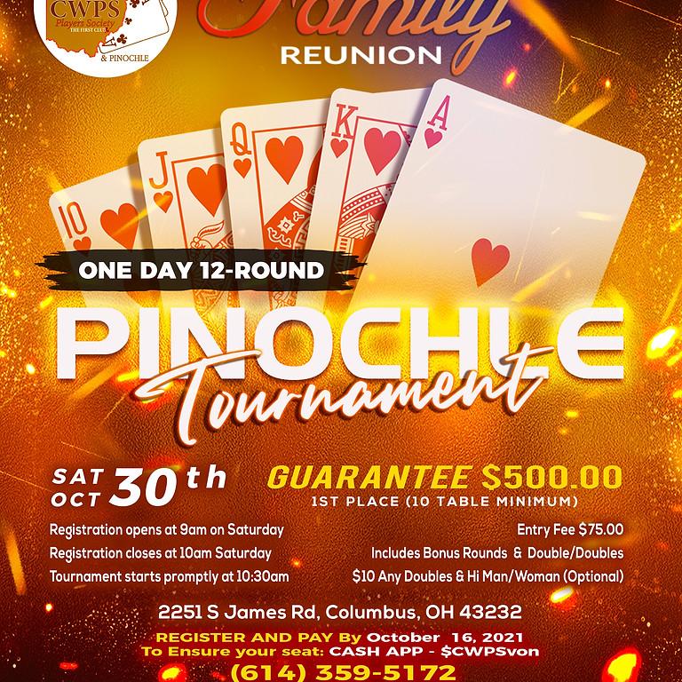 Family Reunion - Pinochle Tournament - $500 Guaranteed (10 table Min)