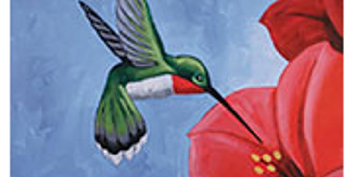 Humming Bird - Painting
