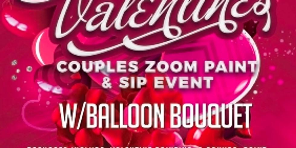 Zoom Paint & Sip w/Balloon Bouquet