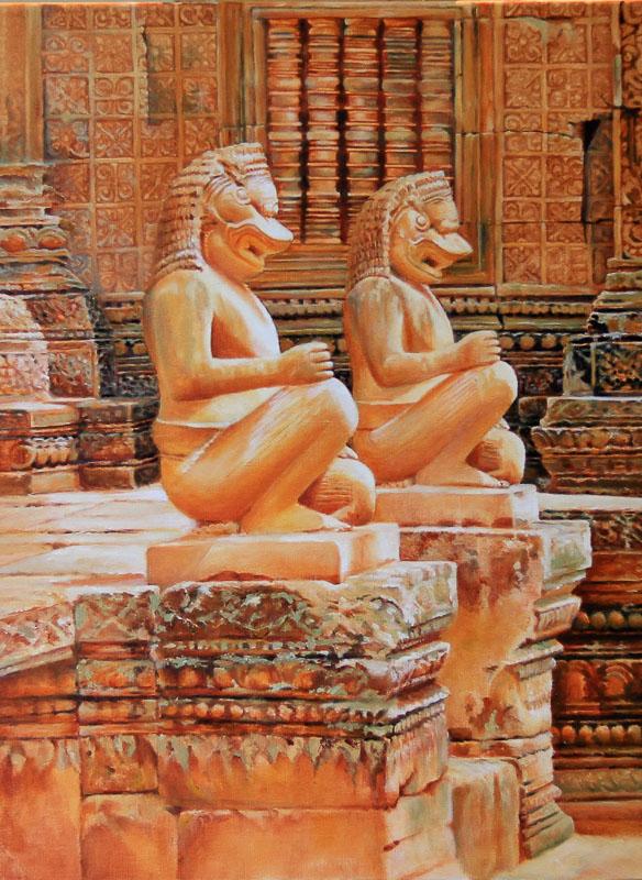 Temple Guardians Facing the light