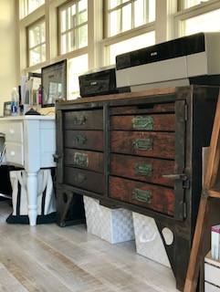 Marine Street Studio antique document table