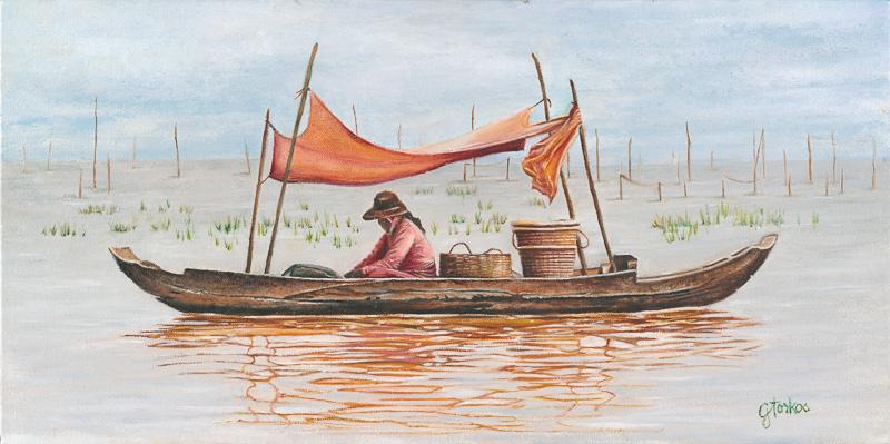Reflections In Tonle Sap Lake