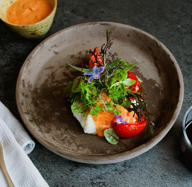 Mediterrane choronsaus met Delisol half-gedroogde tomaten en gepekelde dragon.